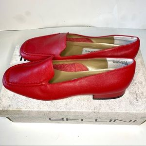 Bellini red flat shoes